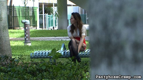 Model tess in pantyhose  our creepy camera man has found another model type the libidinous tess strutting around town in libidinous pantyhose  he follows her everywhere she goes zooming closely on her stockings trying to see up her tight red skirt. Our creepy camera man has found another model type, the horny Tess, strutting around town in horny pantyhose. He follows her everywhere she goes, zooming closely on her stockings, trying to see up her tight red skirt. Tess